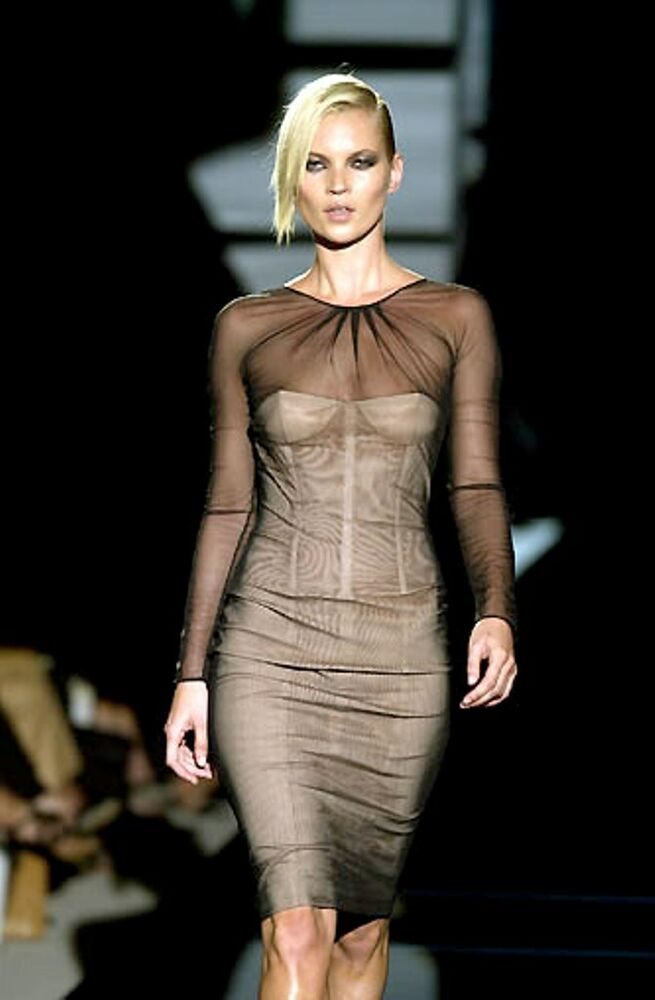 Gucci Tom Ford S 01 Runway Aso Kate Moss Nwt Black Nude