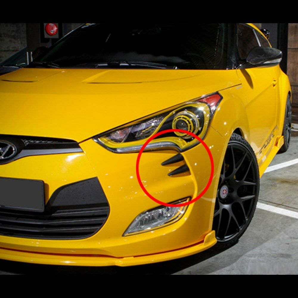 Used Hyundai Veloster Turbo Nc: Front Head Bumper Molding Devil's Claw For Hyundai