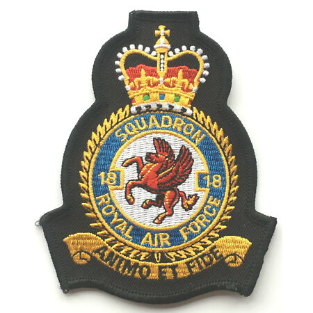 img-No.18 Squadron Royal Air Force Embroidered Crest Badge Patch Official Crest