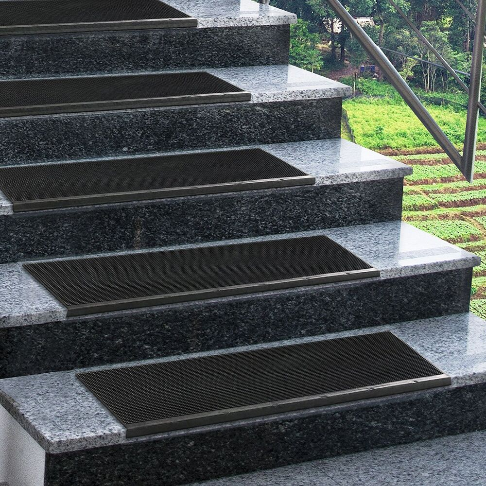 Non slip stair treads all weather outdoor staircase mats for Marche d escalier exterieur