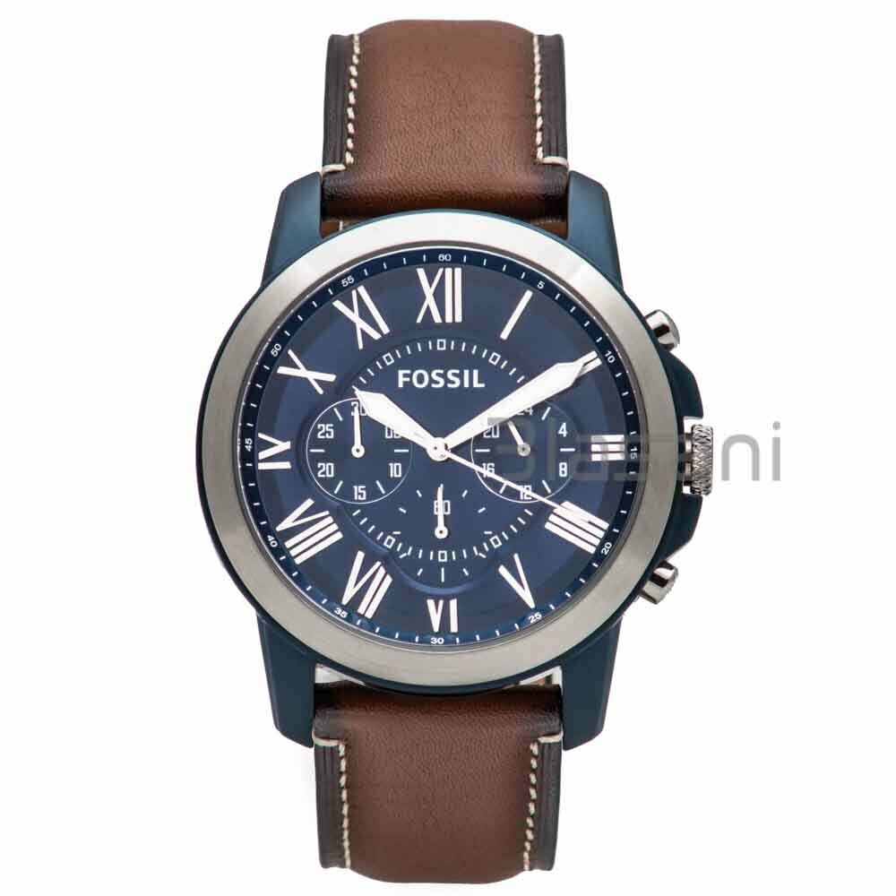 56043c474263f Details about Fossil Original FS5151 Men s Grant Light Brown Leather  Chronograph Watch 44mm