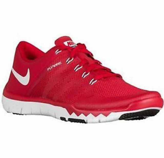finest selection f5514 05534 ... canada details about nike mens free trainer 5.0 v6 gym red white mesh cross  trainers size