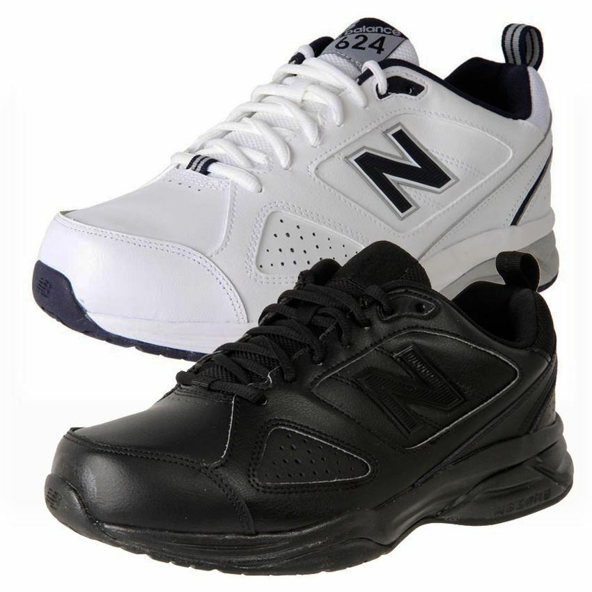 0f37fa132f38 Details about New Balance Mens 624 4E Wide Black Or White RRP  130
