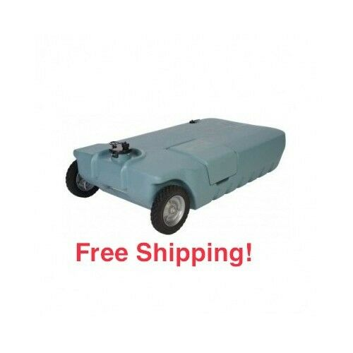 Waste Water Tank RV Motorhome Camper Portable 32 Gallon Transport Tote ...