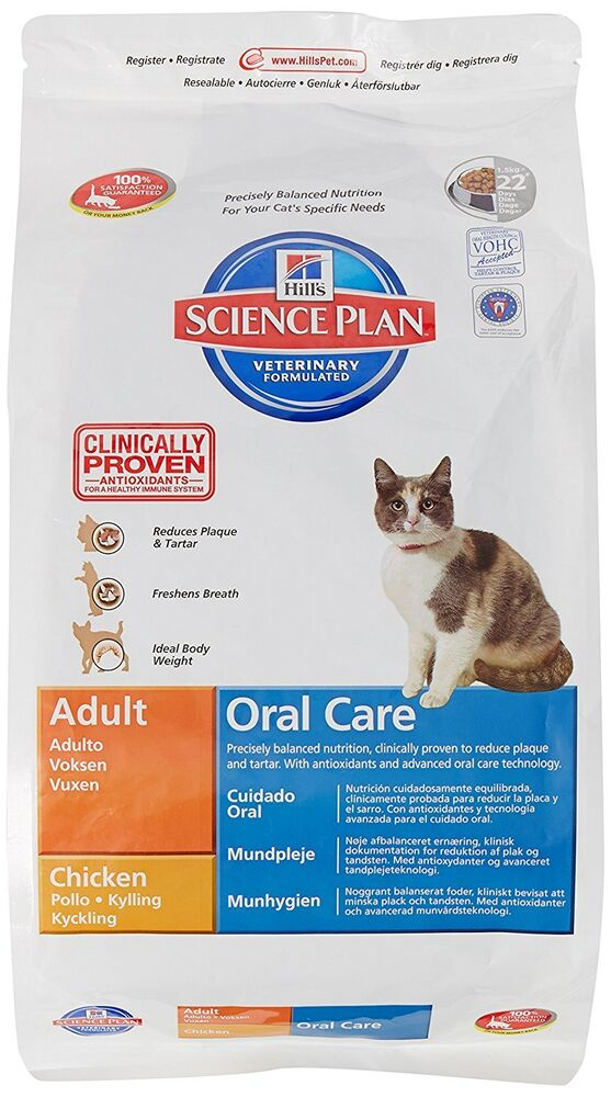 Hills Cat Food Oral Care Chicken Dry Mix   Kg