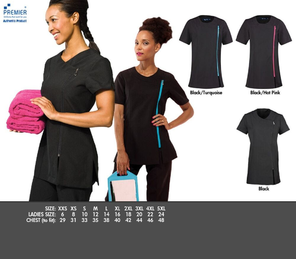 Camellia beauty spa tunic nail salon hairdresser for Spa uniform south africa