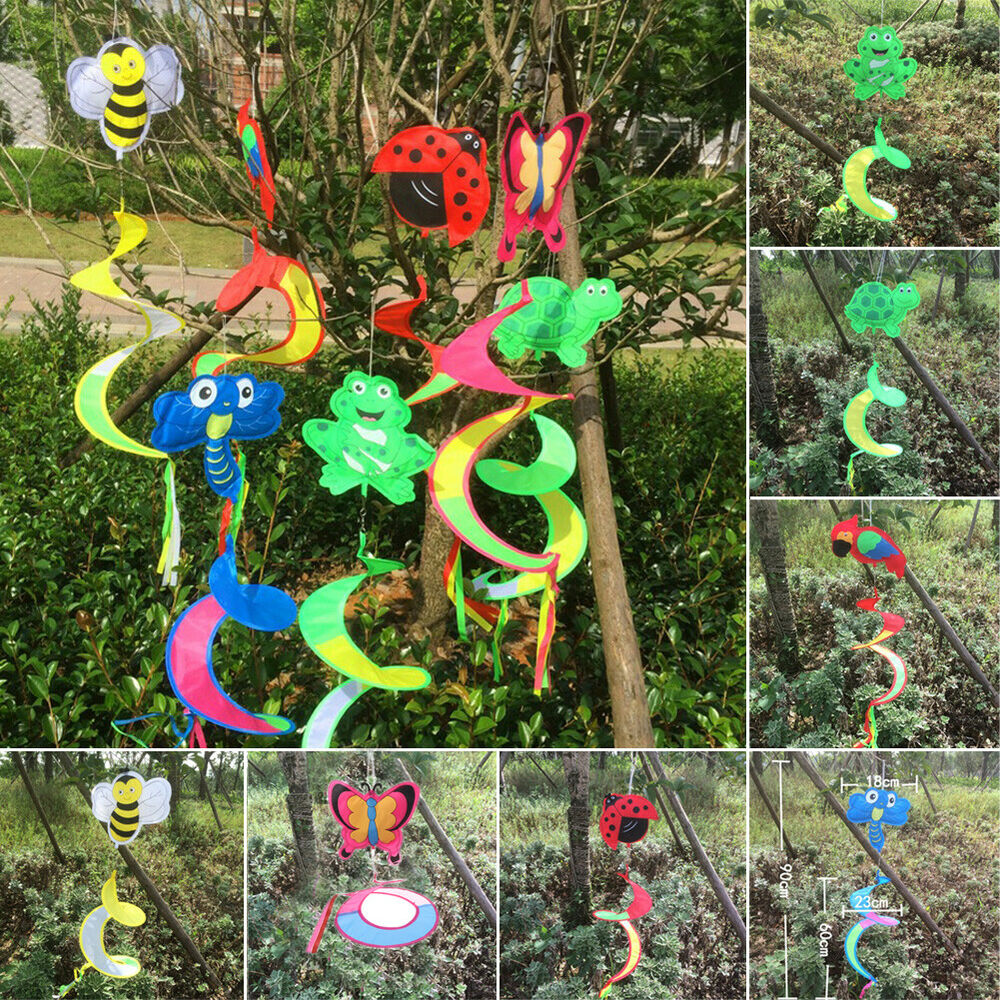 Animal spiral windmill colorful wind spinner lawn garden for Outdoor decorative items