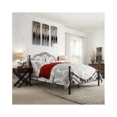 Iron Scroll Bed Frame