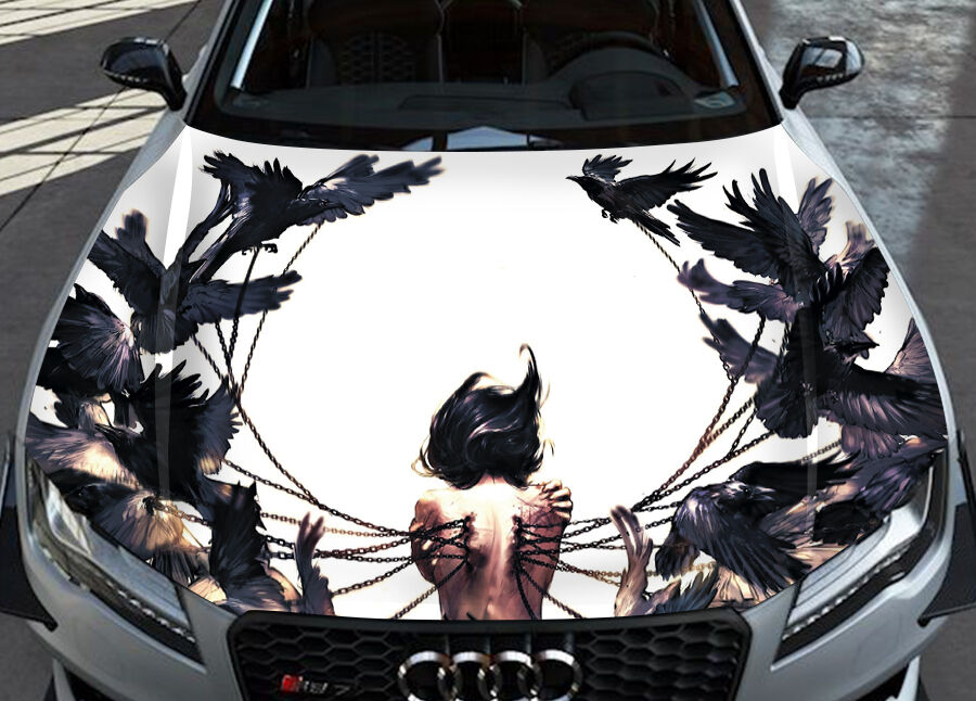Wenqing Yan Birds Blood Car Hood Wrap Full Color Vinyl