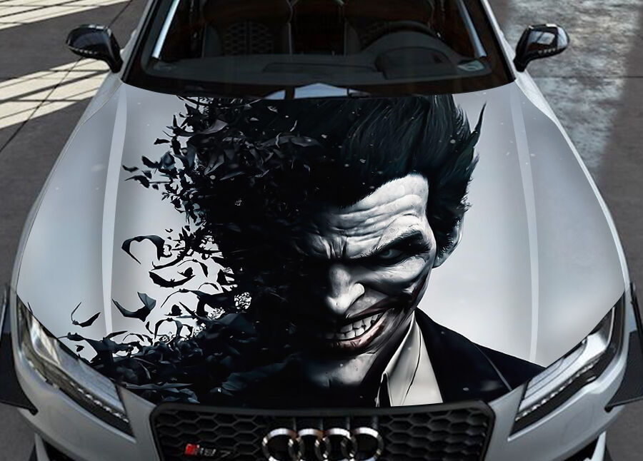 Joker 2 Car Hood Wrap Full Color Vinyl Sticker Decal Fit