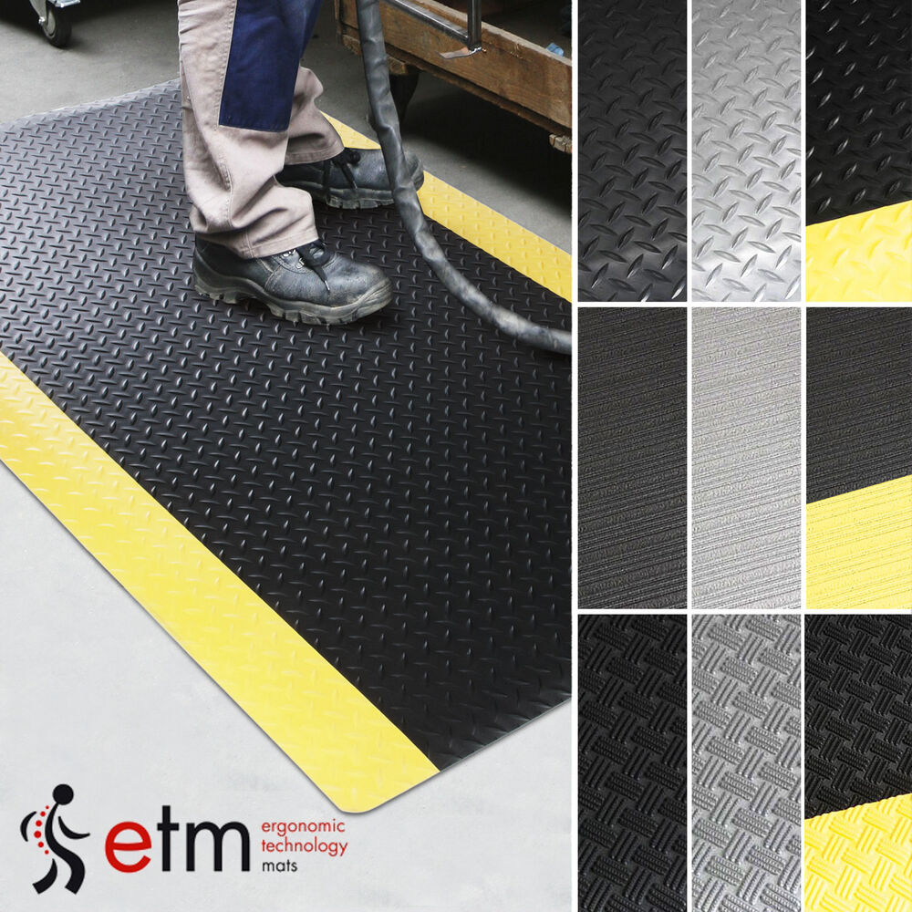 Etm Commercial Anti Fatigue Floor Mat Runners Industrial