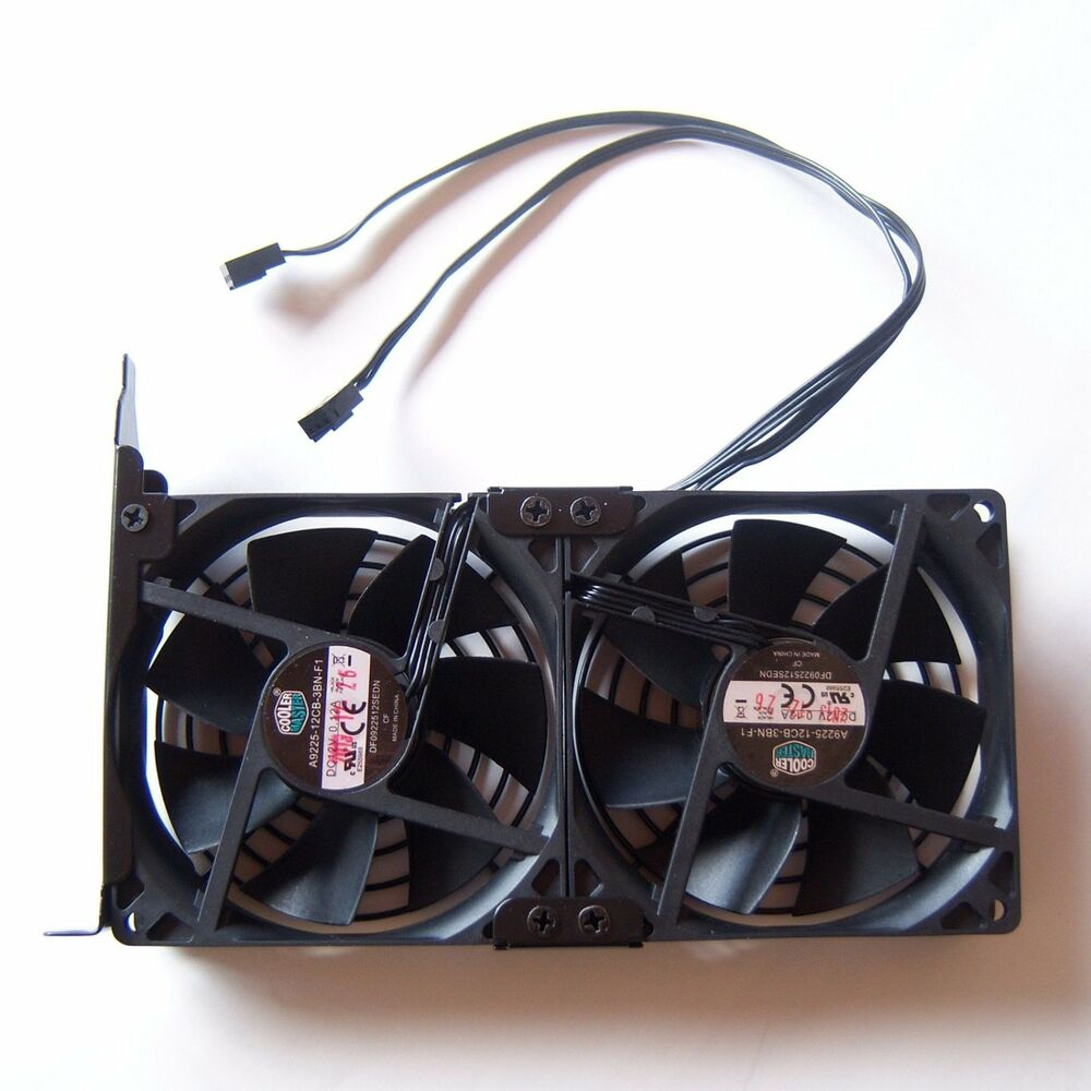 Cooler Master 90mm Double Cooling Fan Pc Pci Gpu Video