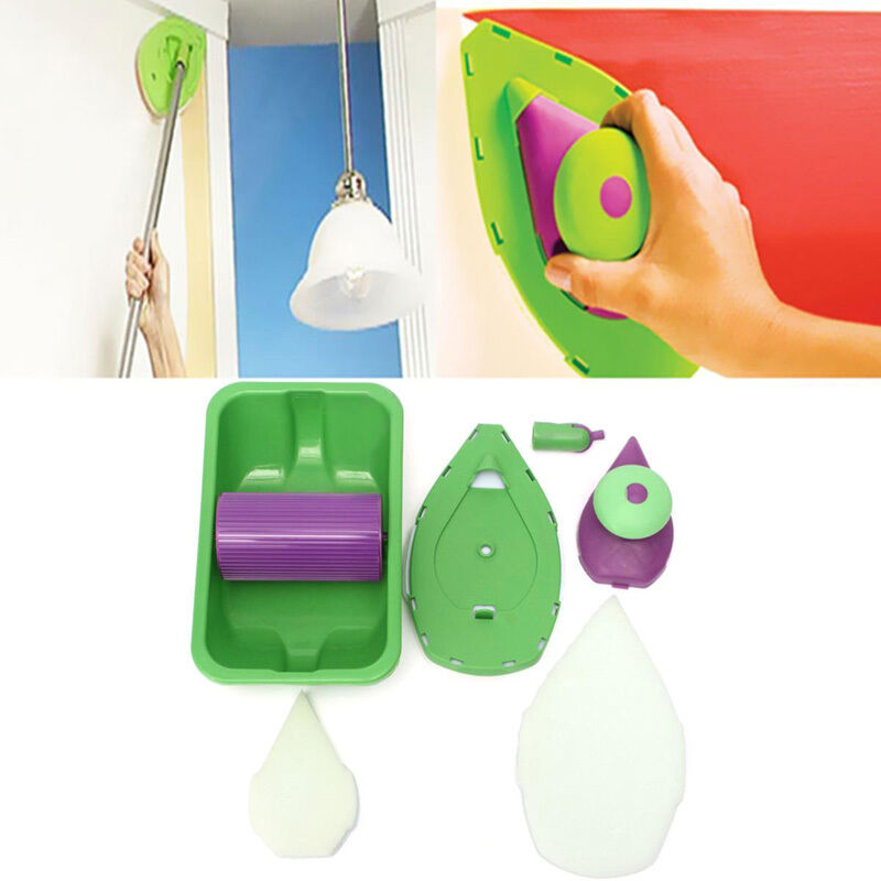 Home wall decor tool sponge set kit point paint pad for House decorating tools