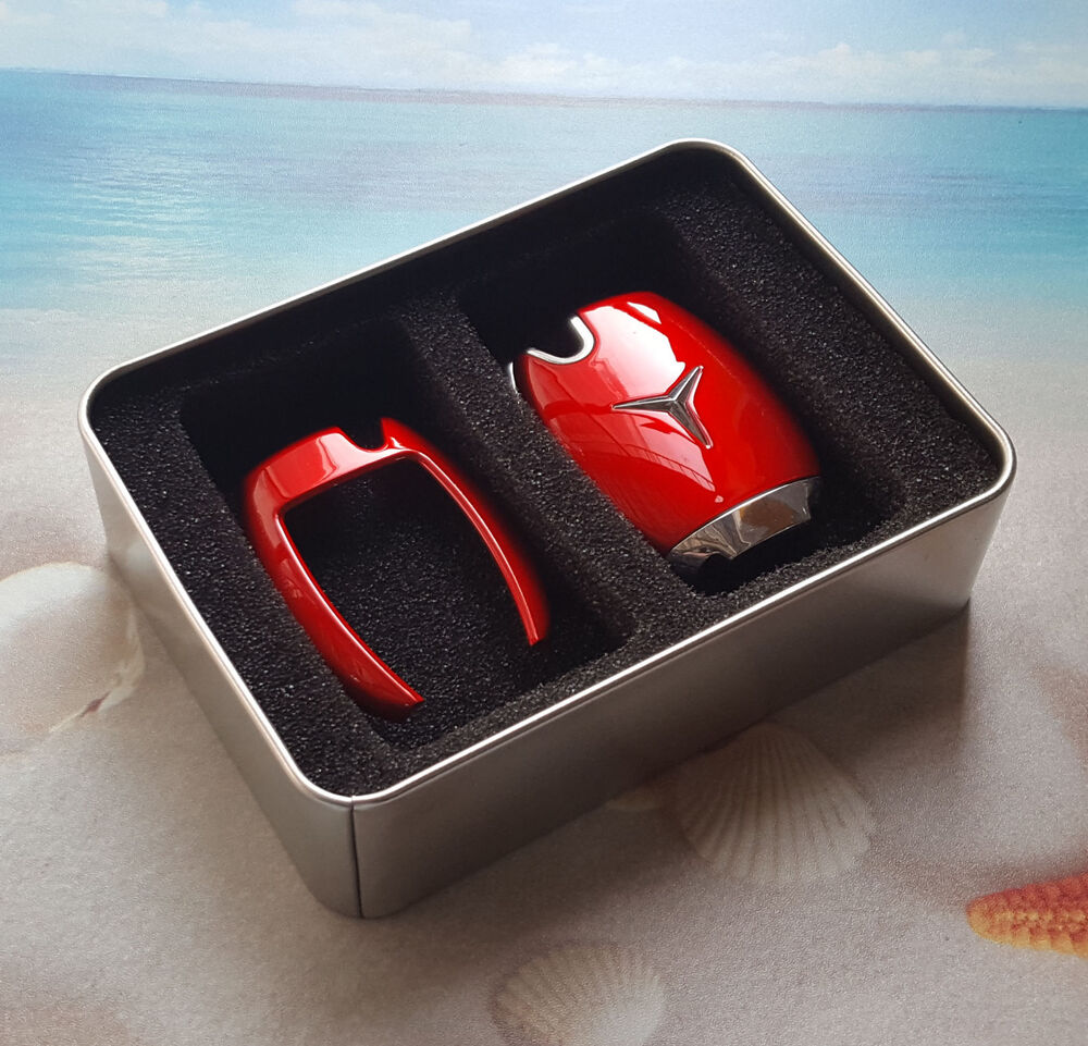 Mercedes benz remote smart key fob rose red case cover for Key mercedes benz