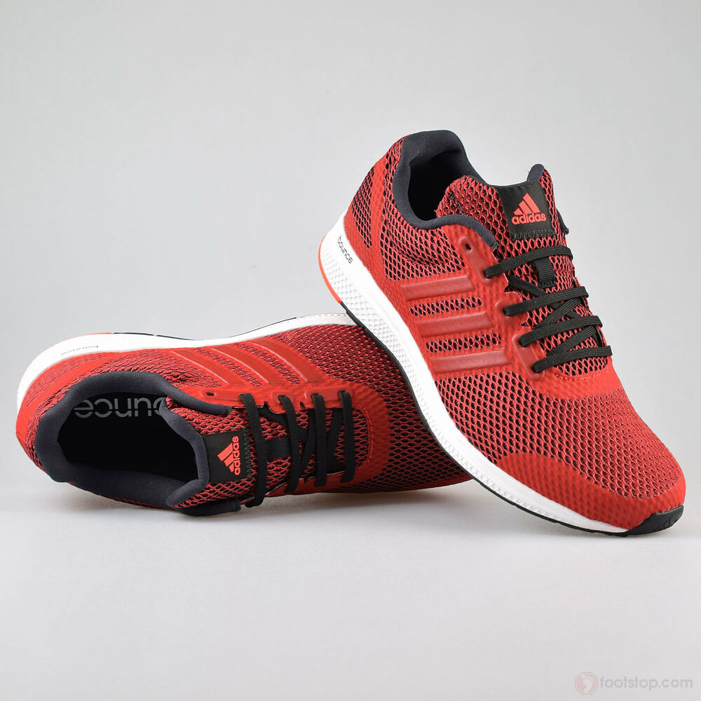 Mens Adidas Mana Bounce Shoes Red Black Sneakers Running ...