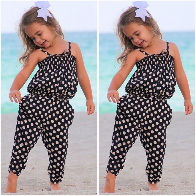 Toddler Kids Baby Girls Summer Romper Jumpsuit Bodysuit ...