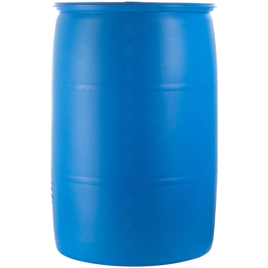 Emergency Water Barrel 55 Gallon Storage Container Drum
