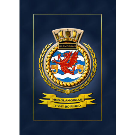 img-HMS GLAMORGAN SHIPS BADGE/CREST - HUNDREDS OF HM SHIPS IN STOCK