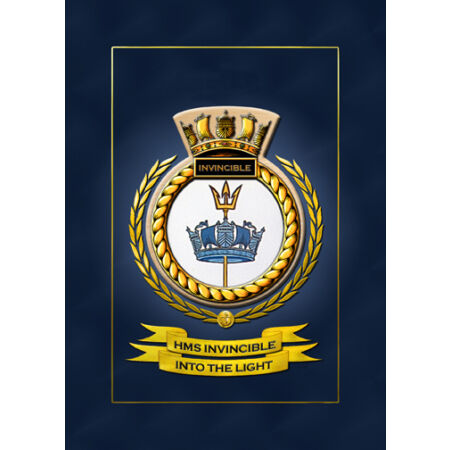 img-HMS INVINCIBLE SHIPS BADGE/CREST - HUNDREDS OF HM SHIPS IN STOCK