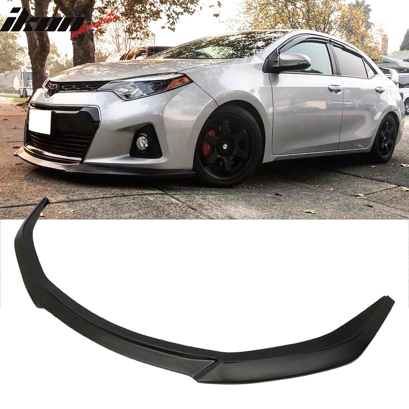Fits 14 16 Toyota Corolla Type S Gt Front Bumper Lip Chin Spoiler Pu Urethane Ebay