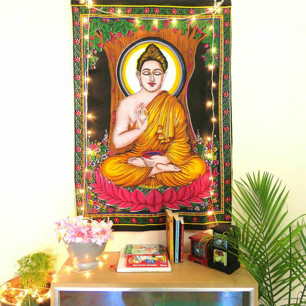 Buddha Buddhist Tapestry Wall Hanging Throw Poster Hippy