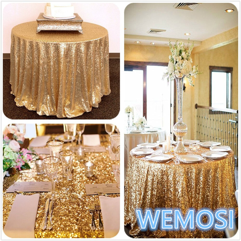 new gold tablecloth shiny gold sequin table wear wedding