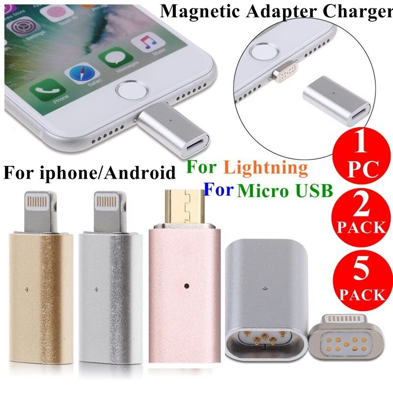 5 2x micro usb to magnetic adapter charger converter for. Black Bedroom Furniture Sets. Home Design Ideas