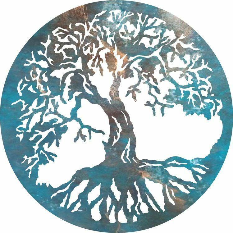 DXF CNC Dxf For Plasma Tree Of Life #2 Vector Metal Wall