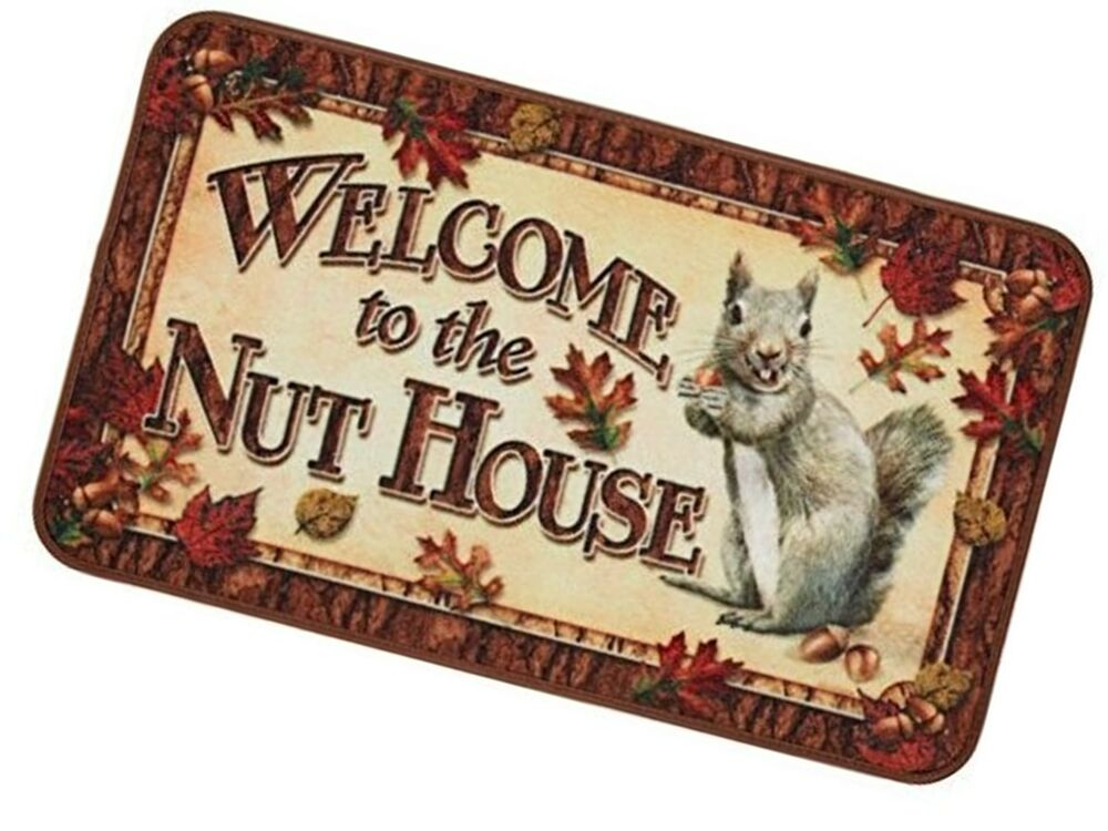 Funny Indoor Door Mat Welcome To The Nut House Outdoor Rug