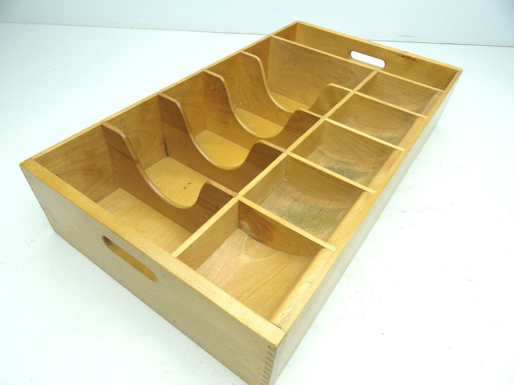 Wood Drawer Boxes ~ Antique wooden cash coin change money wood drawer box