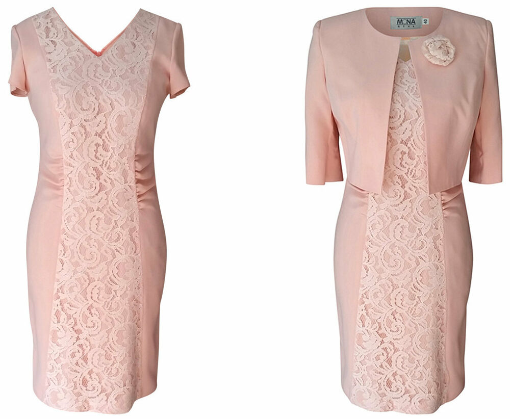 PEACH PINK BLUSH MOTHER OF THE BRIDE GROOM OUTFIT 2 PIECE ...