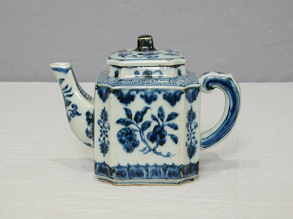 Chinese Blue and White Porcelain Teapot With Mark M1442 | eBay