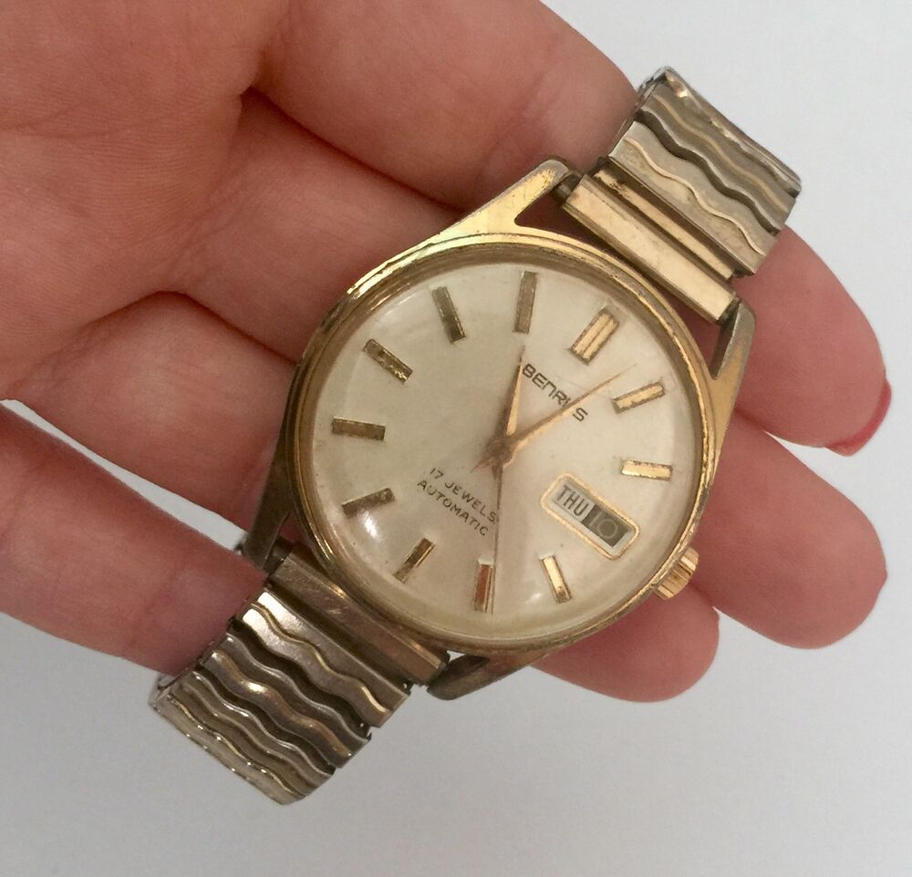 Ebay Co Uk: Vintage Benrus Automatic Stainless Steel 17 Jewels Men's
