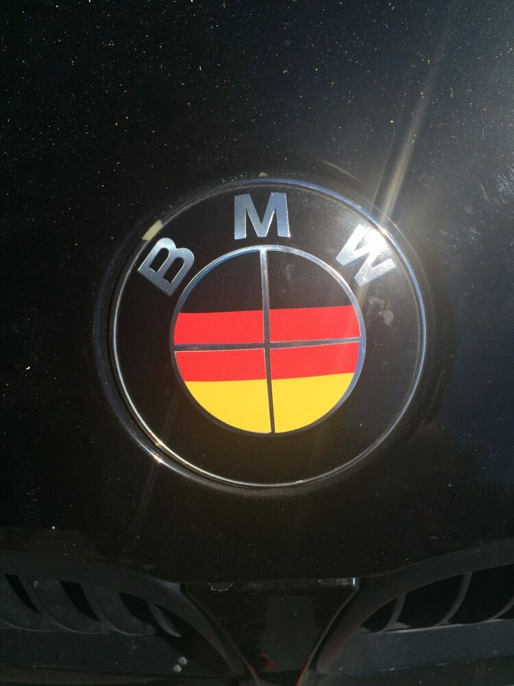 German Germany Deutsch Flag Bmw Emblem Overlays Stickers Fits Every Bmw Model Ebay