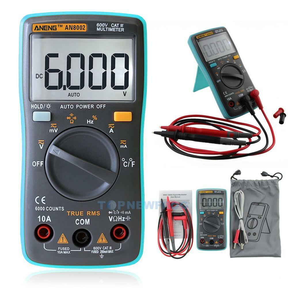 aneng digital multimeter ac dc amperemeter strom spannung widerstand temperatur ebay. Black Bedroom Furniture Sets. Home Design Ideas