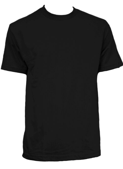 Black T-Shirts in Bulk, Wholesale Pricing. Black T-Shirts are available in several brands and styles. We don't do any printing or design; we simply offer blank, bulk t-shirts in black and many other colors. Most of our wholesale t-shirts come in black. Below are a few of our most popular black t-shirts.