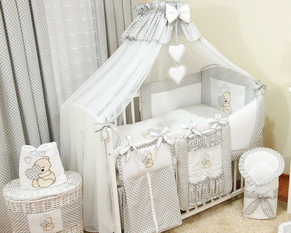 10 tlg bettw sche nestchen babybettw sche bettset b rchen mit herz bello ebay. Black Bedroom Furniture Sets. Home Design Ideas
