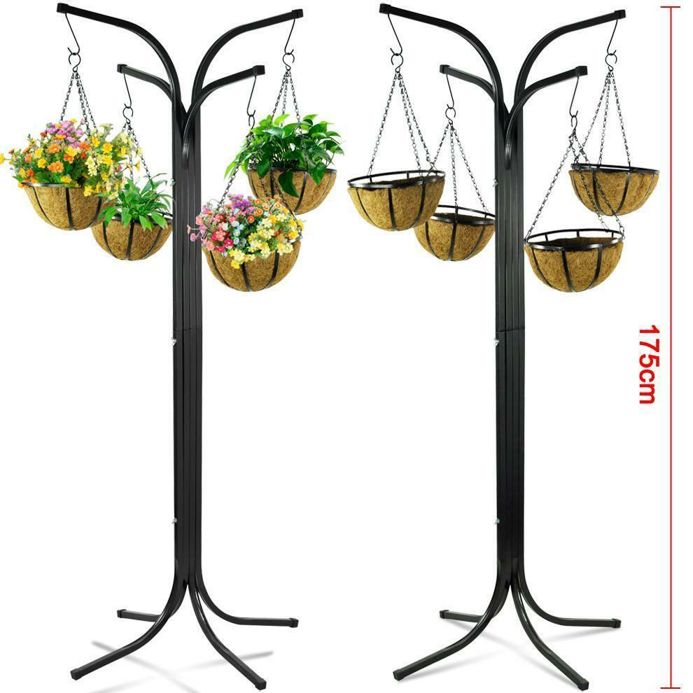 4 Arm Tree Cascade Hanging Basket Patio Stand Garden Plant ... on Hanging Plant Stand  id=89775