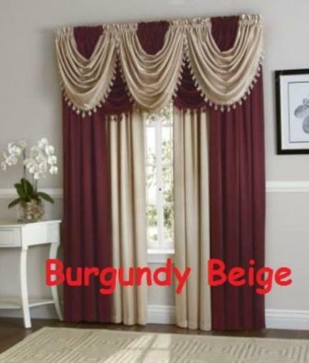 1 Pc Curtain And 1 Pc Tulle Peony Luxury Window Curtains: Luxurious Hyatt WINDOW TREATMENT,window Curtain Panel Or