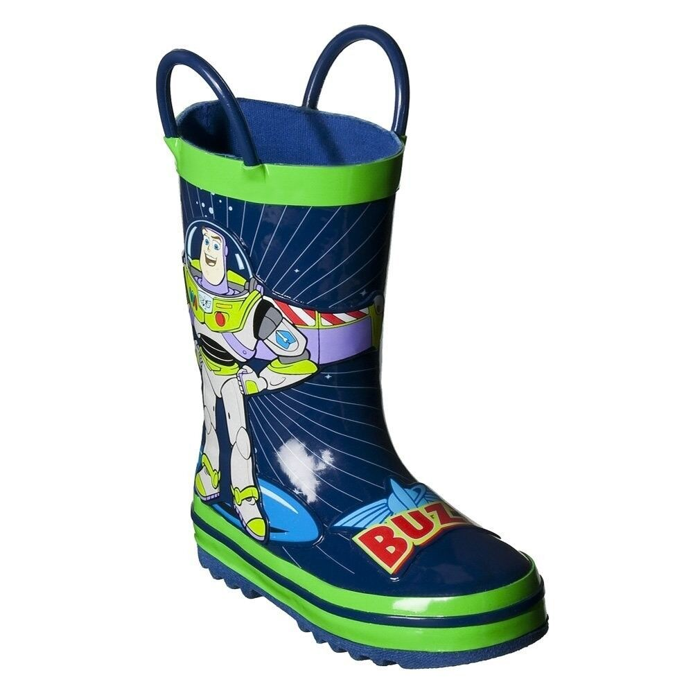 Toddler Disney Toy Story Rain Boots Blue Green Buzz