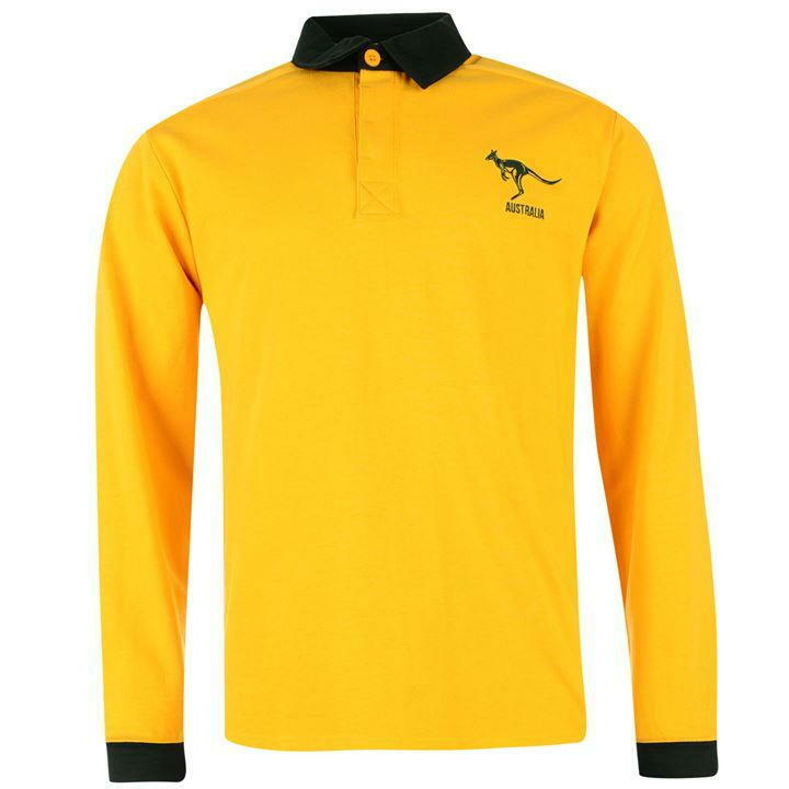 Genuine Team Australia Men's Long Sleeve Rugby Shirt, Size ...