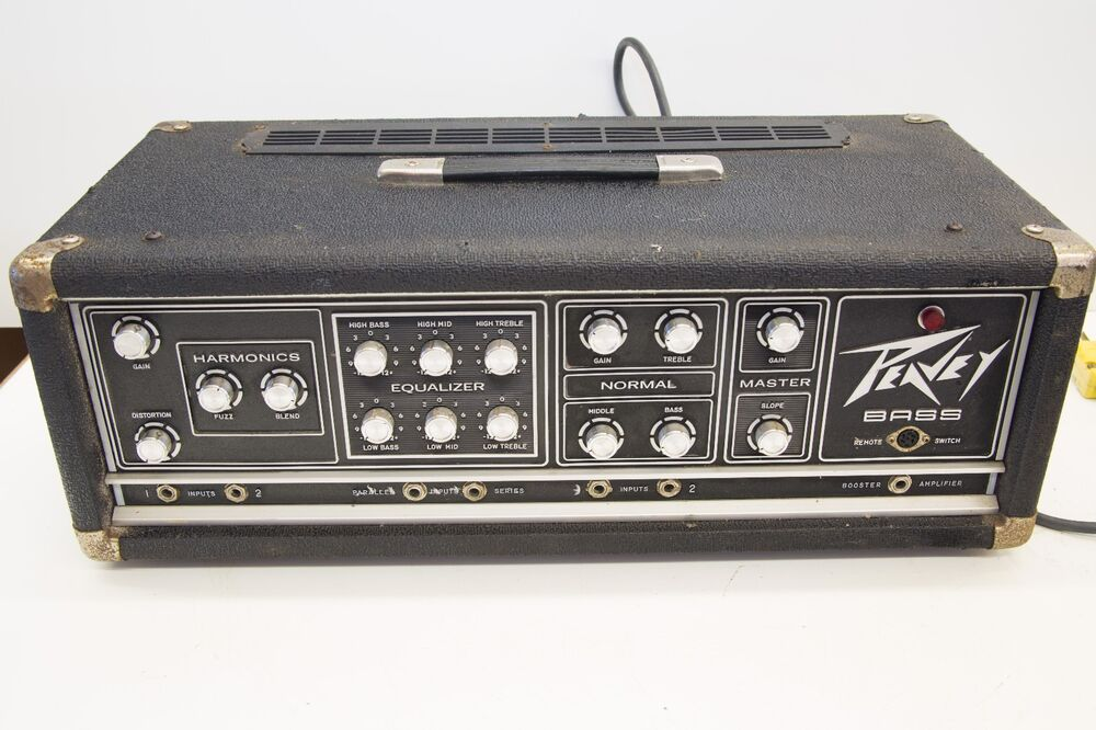vintage peavey series 400 bass head ebay. Black Bedroom Furniture Sets. Home Design Ideas