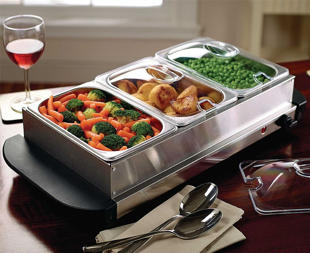 Food Warmer Holder ~ Table top food warmer buffet hot plate stainless steel