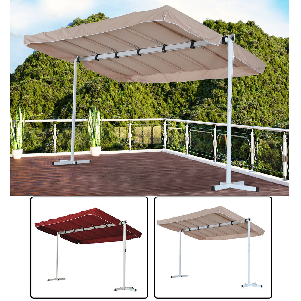 Outsunny Outdoor Gazebo Canopy Free Standing Shelter Rain