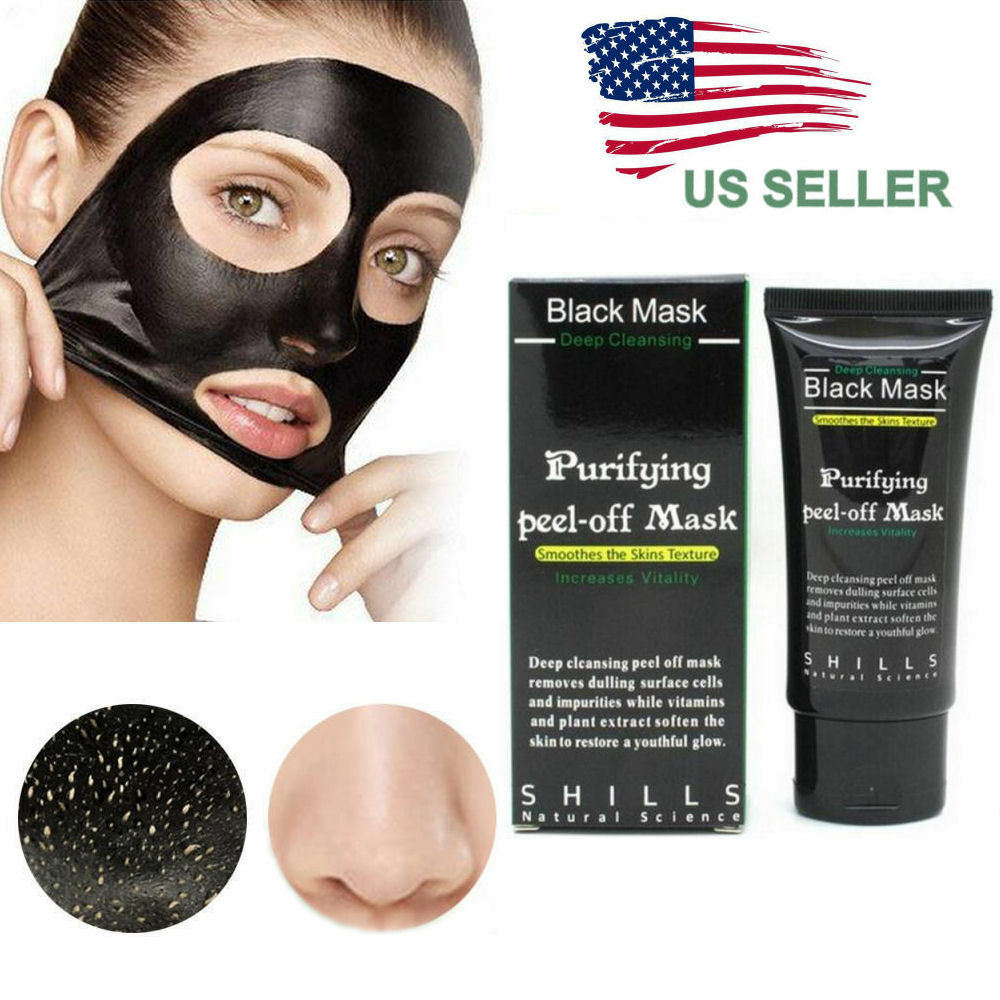 Charcoal Mask To Clear Pores And Detox Skin: Purifying Black Peel-off Mask Facial Cleansing Blackhead