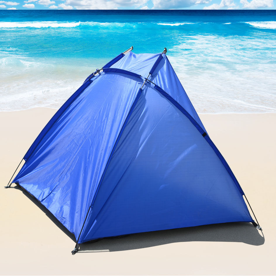 new portable beach tent shelter sun shade canopy camping fishing outdoor sport 8568801503 ebay. Black Bedroom Furniture Sets. Home Design Ideas