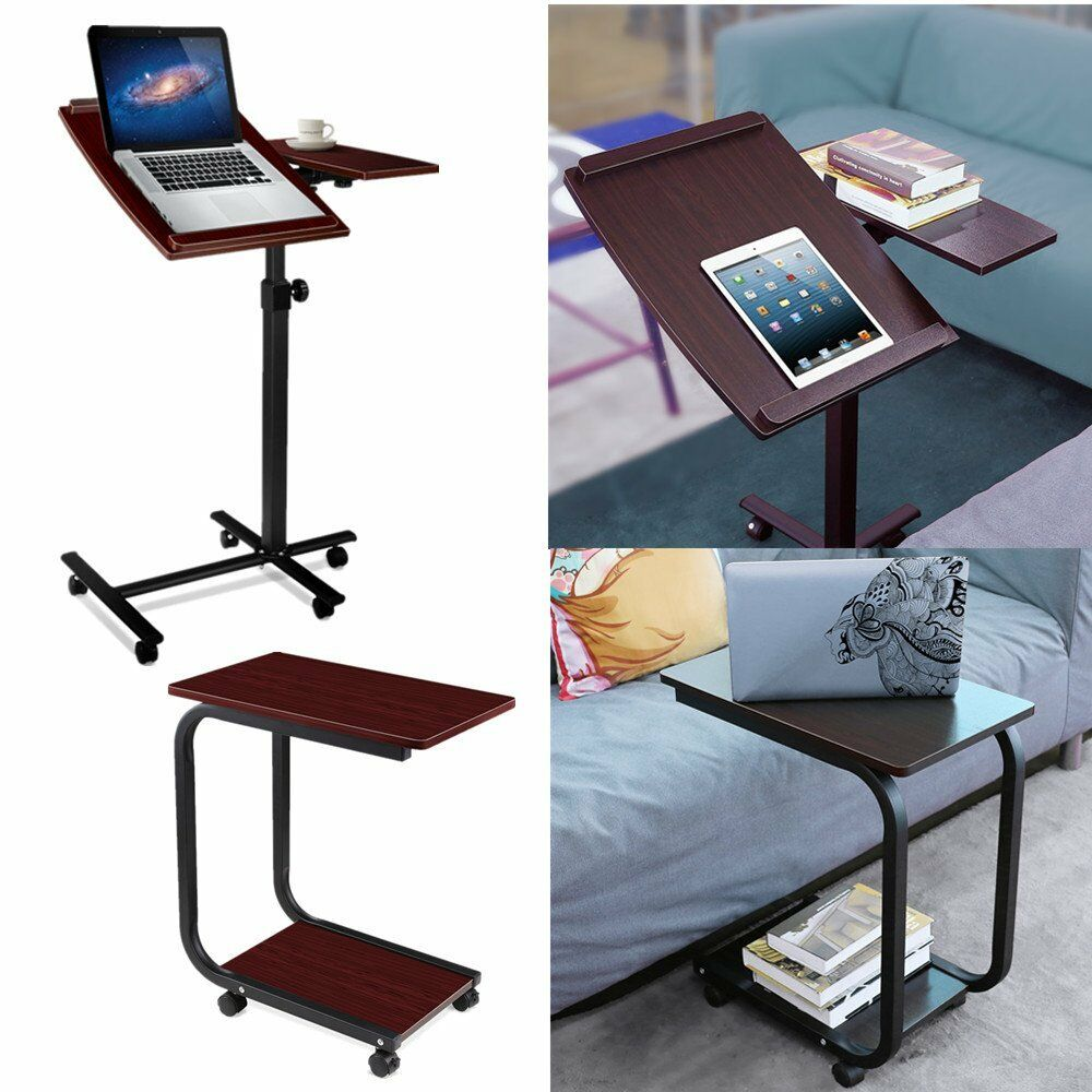 computertisch laptoptisch laptopst nder auf 360 rollen beistelltisch pc tisch ebay. Black Bedroom Furniture Sets. Home Design Ideas