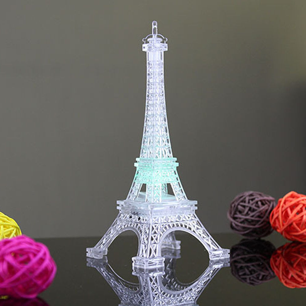 Eiffel Tower LED Color Changing Night Light Wedding ...