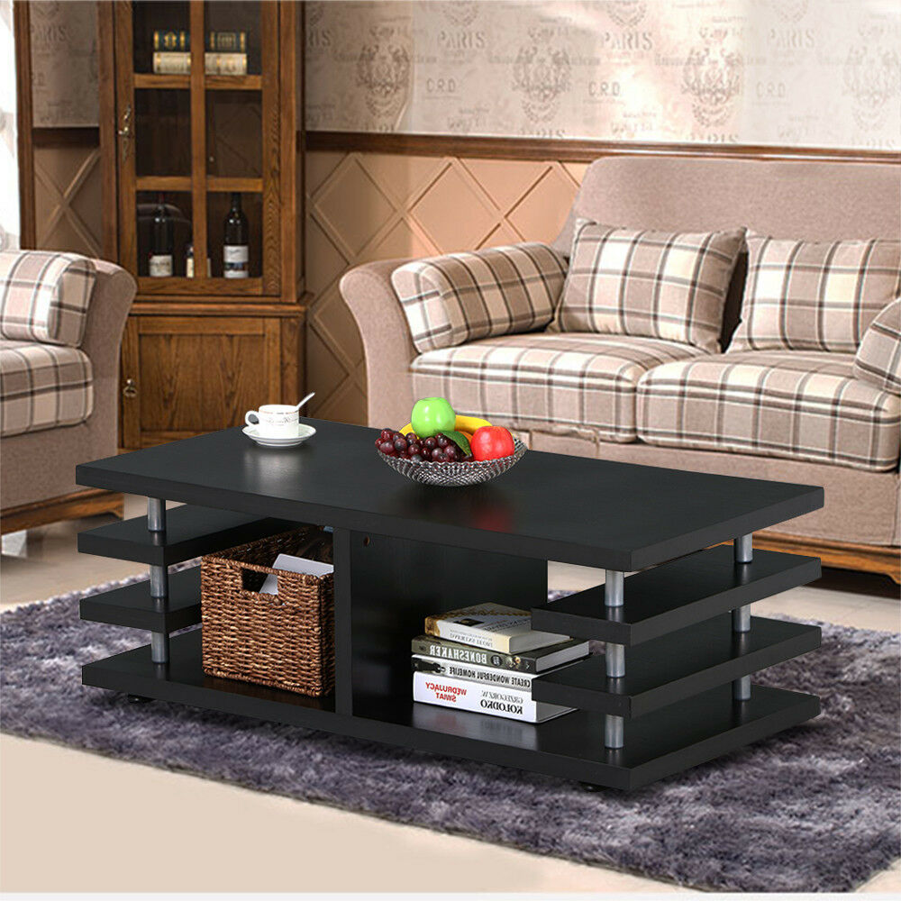 Modern Coffee Table Sofa End Table Rectangular Desk