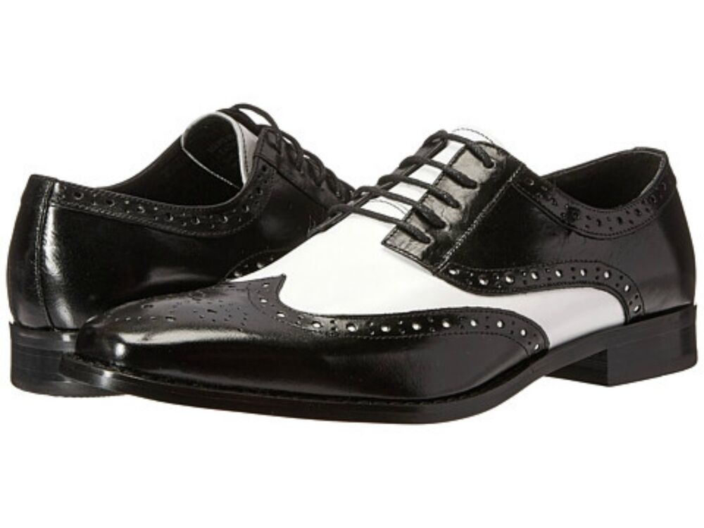 Mens Black Wingtip Oxford Shoes